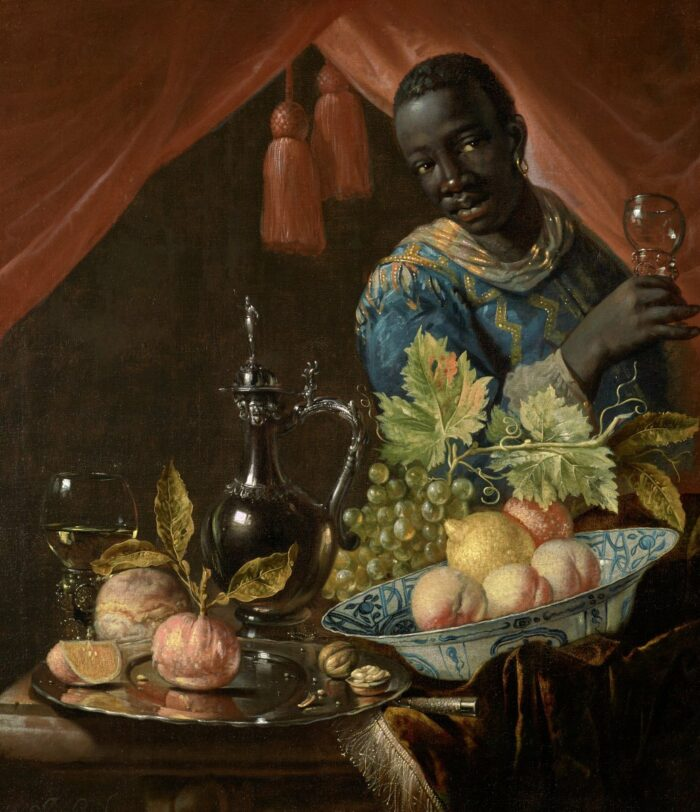 Juriaen van Streek (1632-1687), Still Life with Male Figure, ca. 1650-1680<br>Birmingham Museum of Art, Birmingham, AL, USA