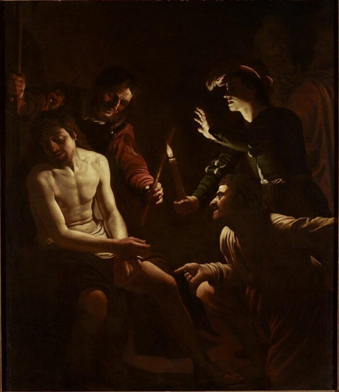 Gerard van Honthorst (1590-1656), <em>The Mocking of Christ</em>, around 1614<br>The Spier Collection, London