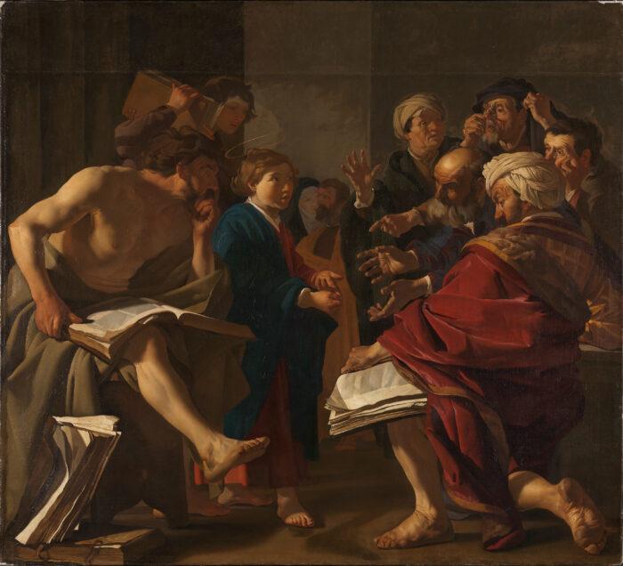 4. Dirck van Baburen (1592-1624), <em>Christ Among the Doctors</em>, 1622<br>Nasjonalmuseet, Oslo (NG.M.00109) photo: Børre Høstland