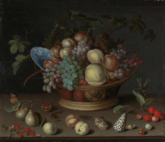 5. Balthasar van Ast (1593/1594-1657), Still Life with Fruit and Shells, between 1620 and 1632Nasjonalmuseet, Oslo (NG.M.00011) photo: Børre Høstland