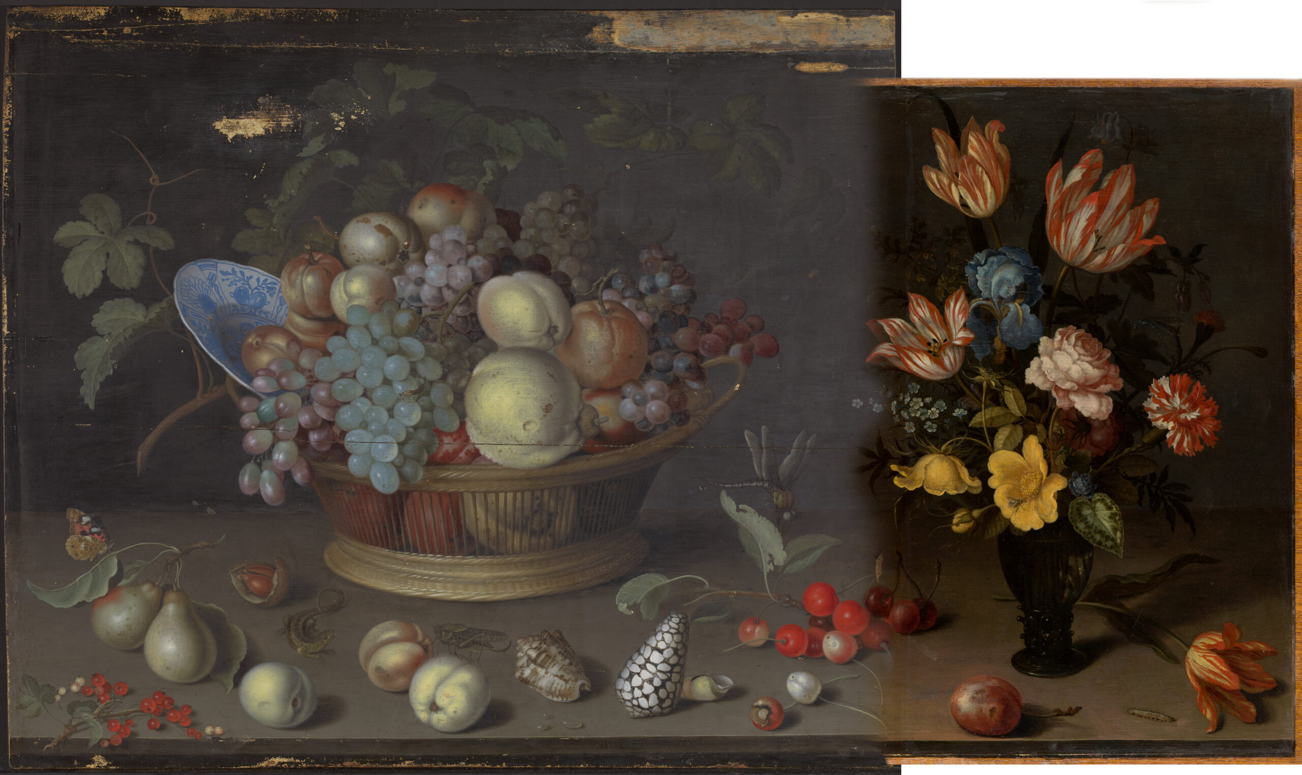 7. Digital reconstruction of the original state of Still Life with Fruit and Shells and Still Life with Flowers, by Vidar Ibenfeldt
