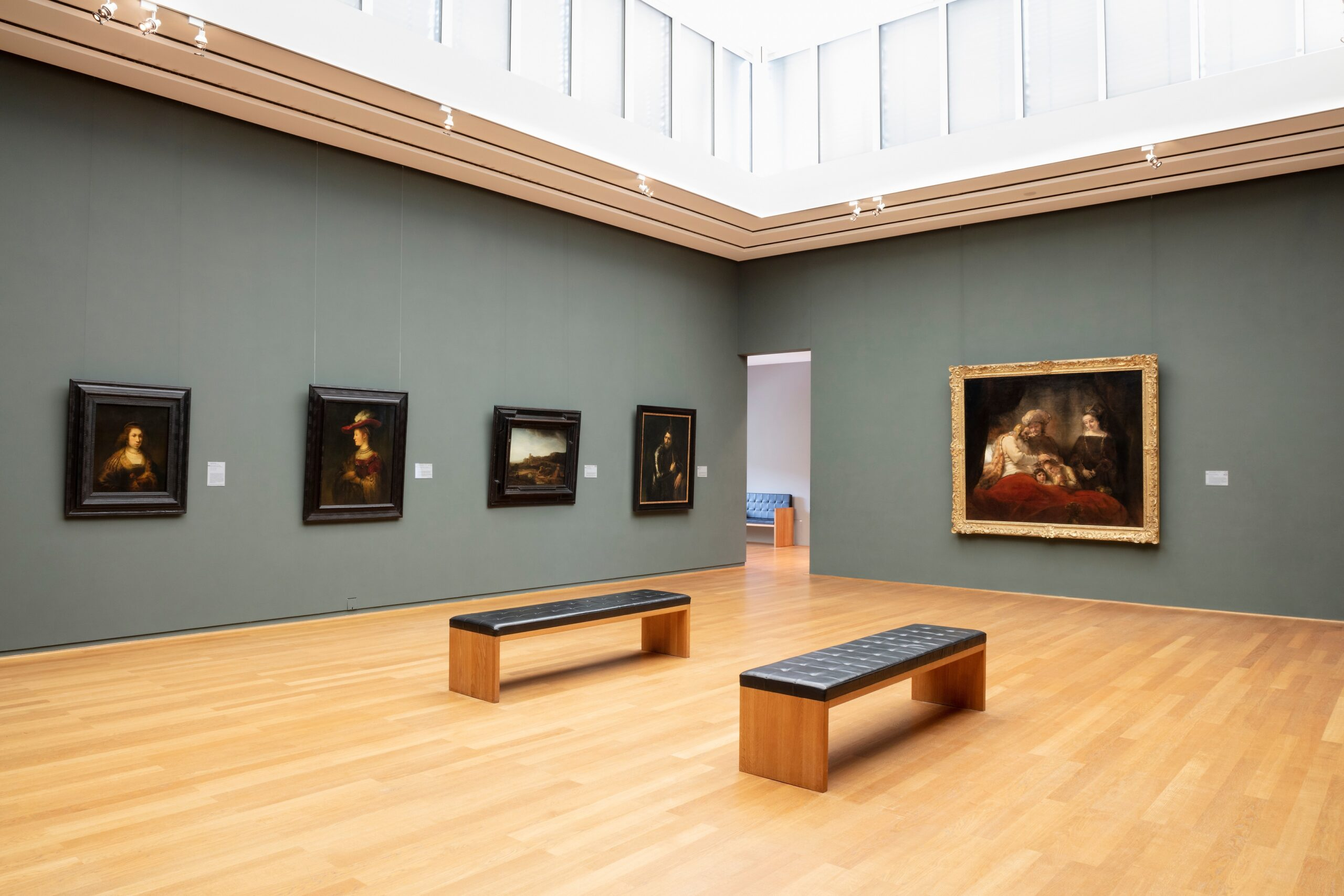 The Rembrandt Room in the Gemäldegalerie Alte Meister