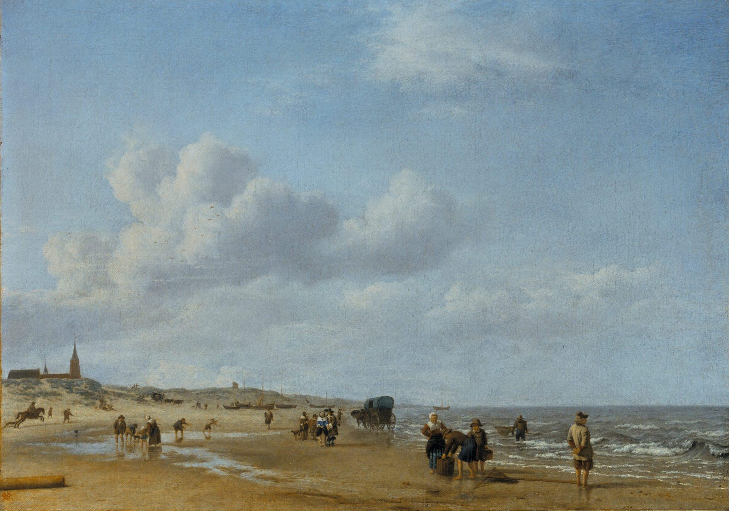 Adriaen van de Velde (1636-1672), <em>The Beach at Scheveningen</em>, 1658<br>Gemäldegalerie Alte Meister, Museumslandschaft Hessen Kassel