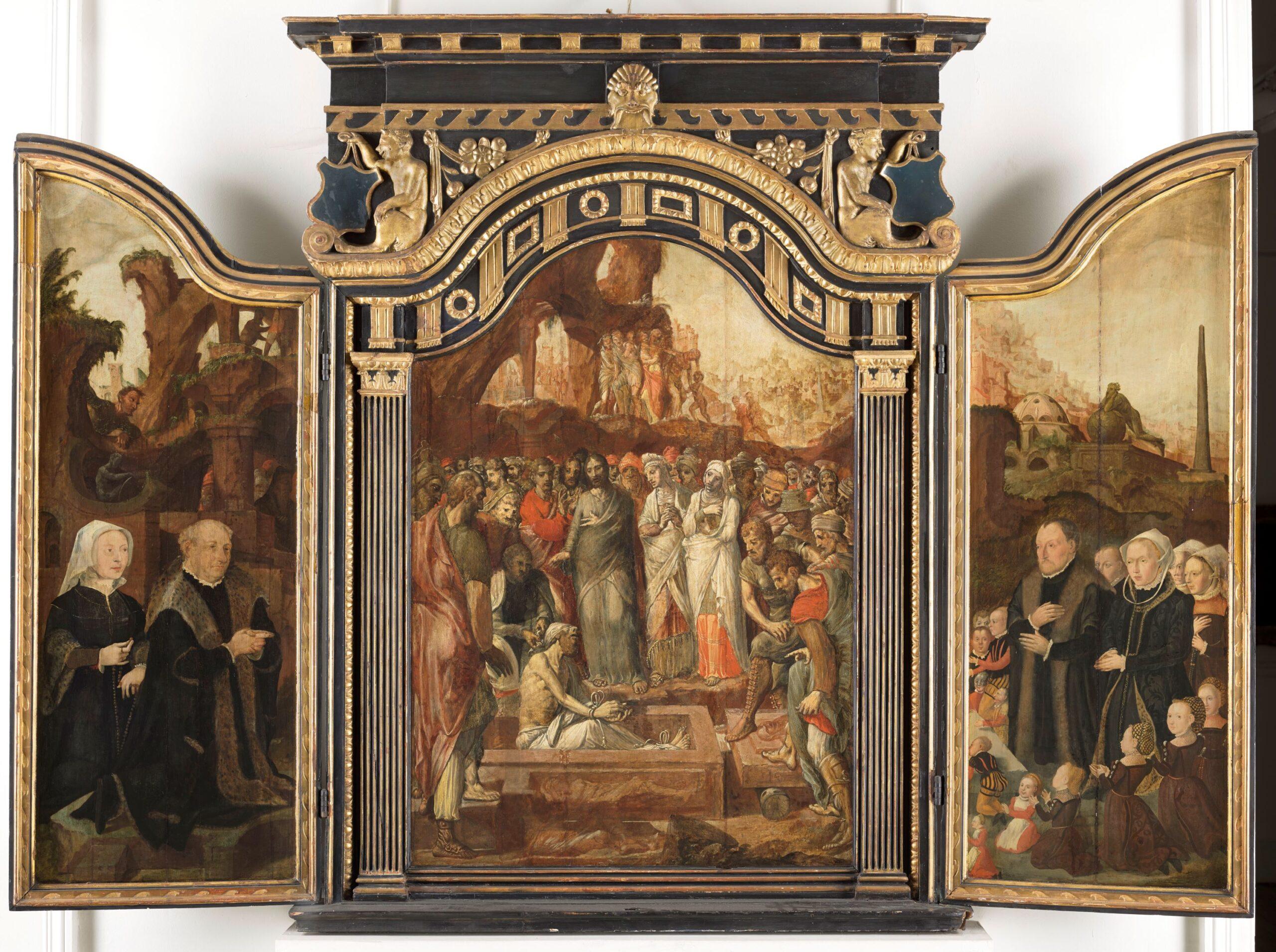 Fig. 1. Aertgen Claesz. van Leyden (1498–1564), Triptych of the Both Family, ca. 1558, inv. MJA 374