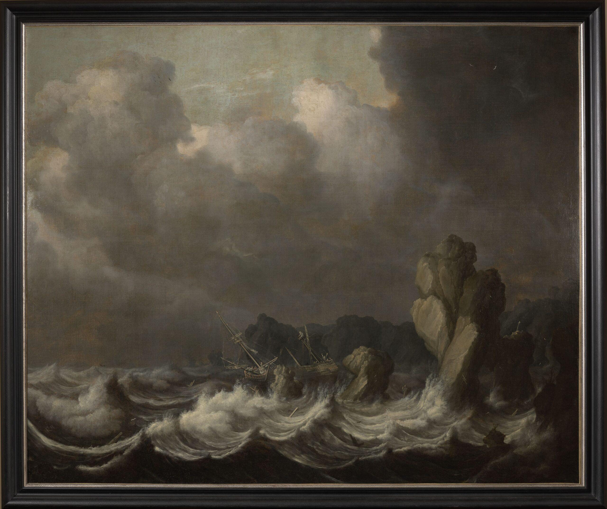 Fig. 4. Simon de Vlieger (1600/1601–1653), A Shipwreck, ca. 1630, inv. MJA 250