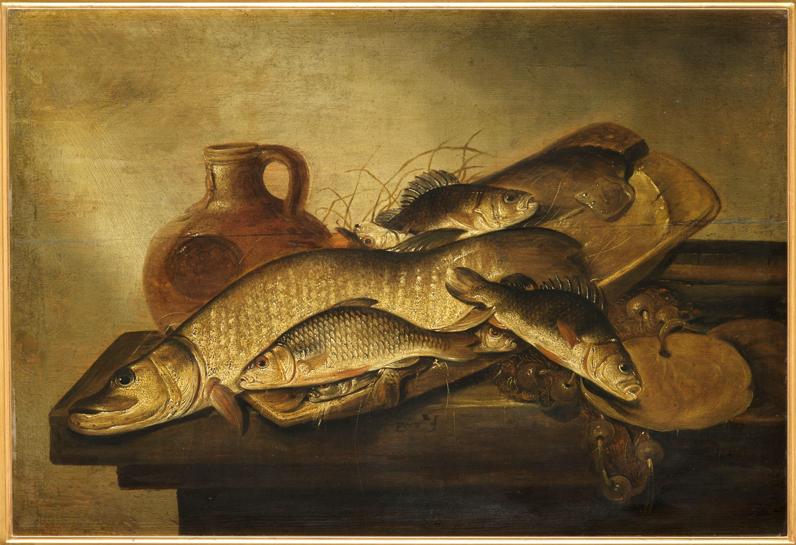 Fig. 5. Pieter de Putter (before 1600–1659), Still Life with Fish, ca. 1630–1659, inv. MJA 276