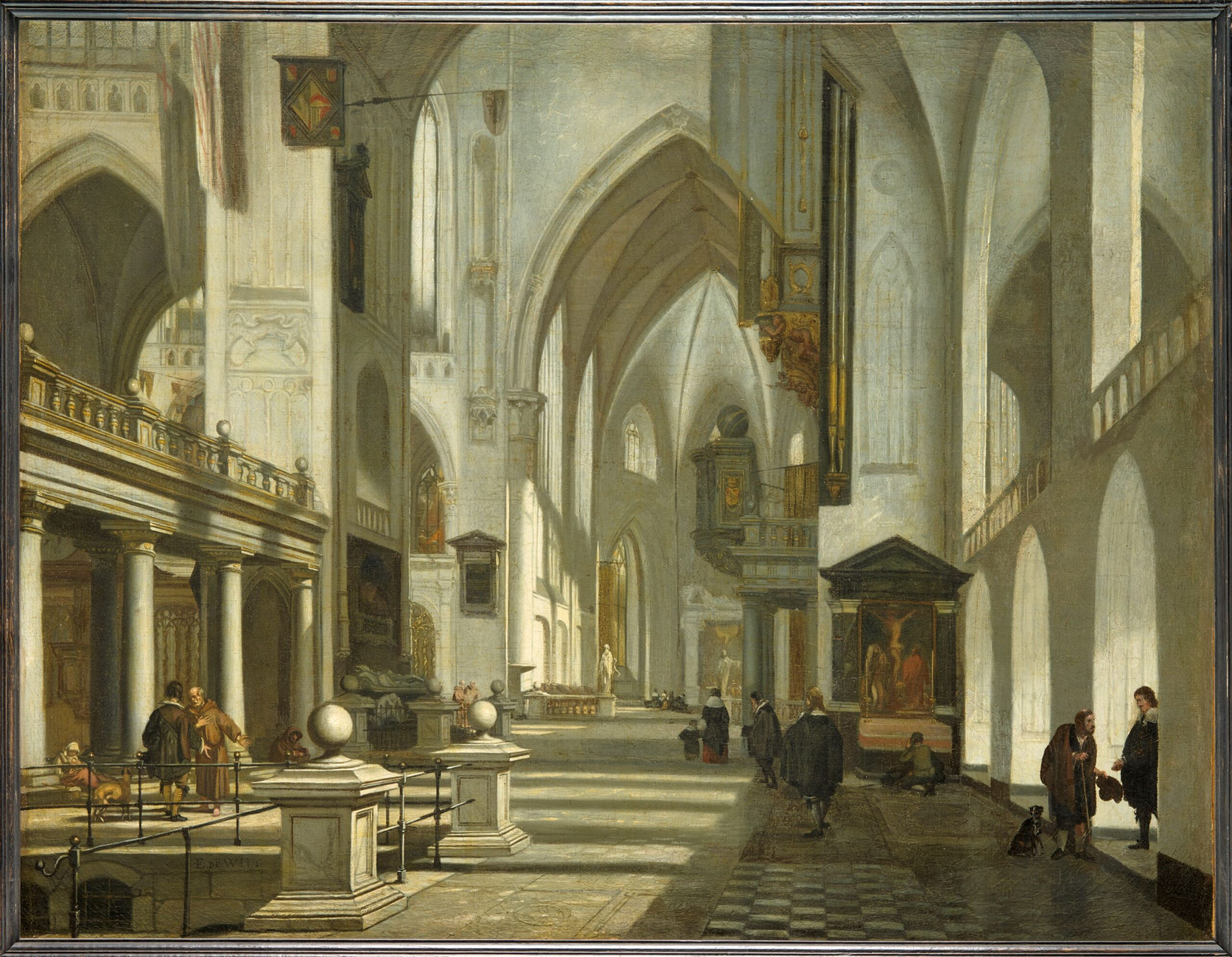 Fig. 7. Emanuel de Witte (1617–1692), Imaginary Church Interior with Monks, ca. 1660–1668, inv. MJA 363