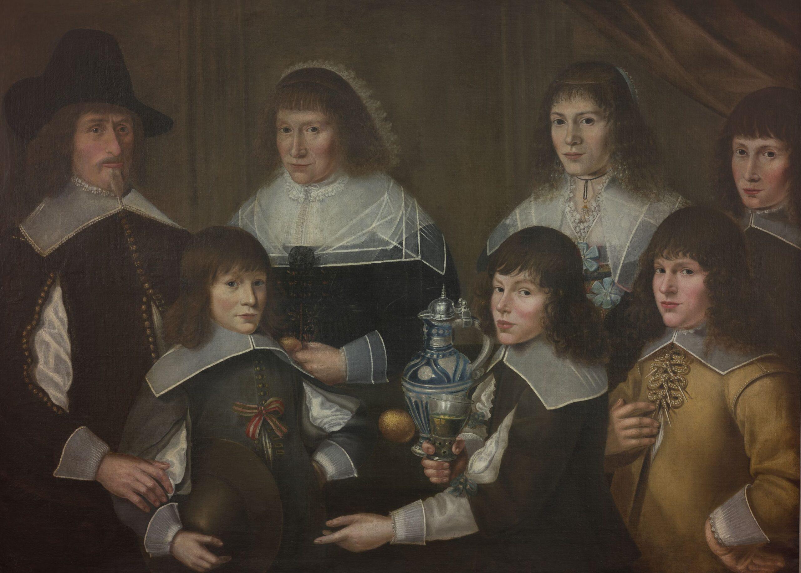 Fig. 8. Anonymous Dutch artist, Family Portrait, ca. 1640–1660, inv. MJA 221