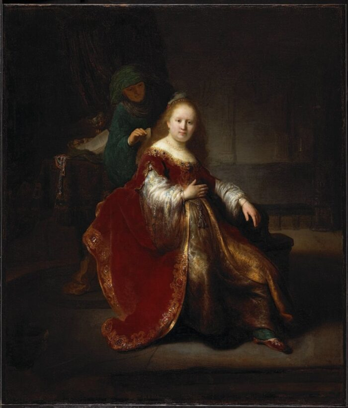 Rembrandt van Rijn (1606-1669), Heroine from the Old Testament, 1632/33. Oil on canvas, 109.2 × 94.4 cm, National Gallery of Canada, Ottawa (Purchased 1953. inv.no. 6089) Photo: NGC